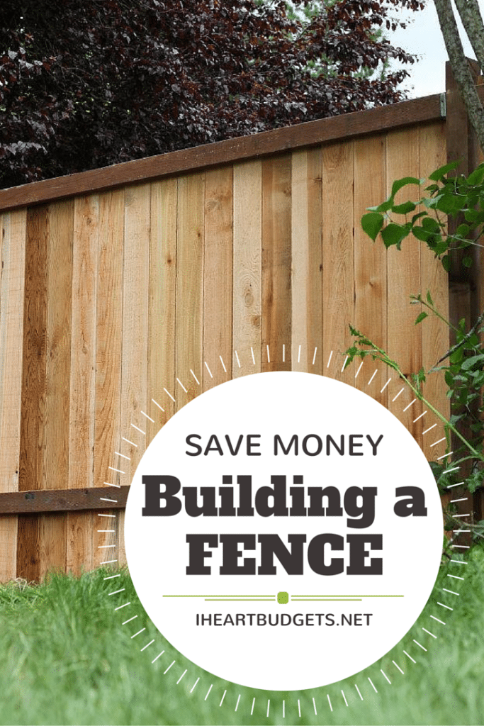 How to save money building a fence for Save money building a house
