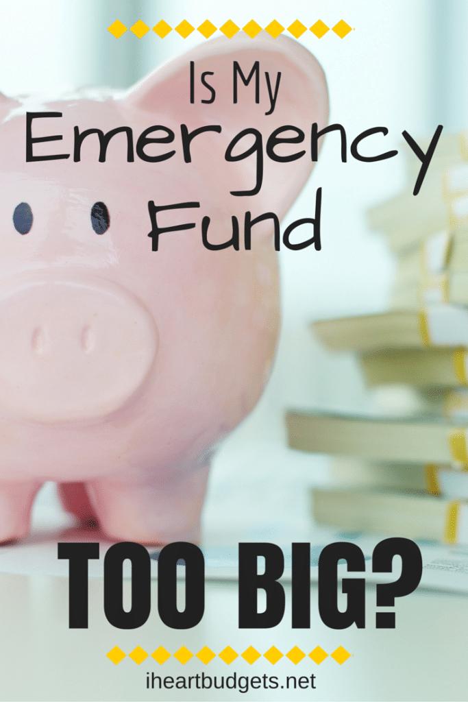 Emergency Fund Too Big