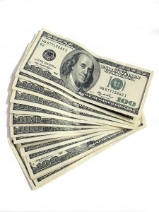 If you buy my thing, I will hand you this stack of cash. But not.