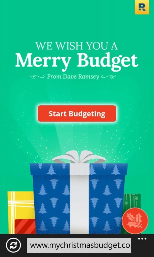 Dave Ramsey Christmas Budget 2