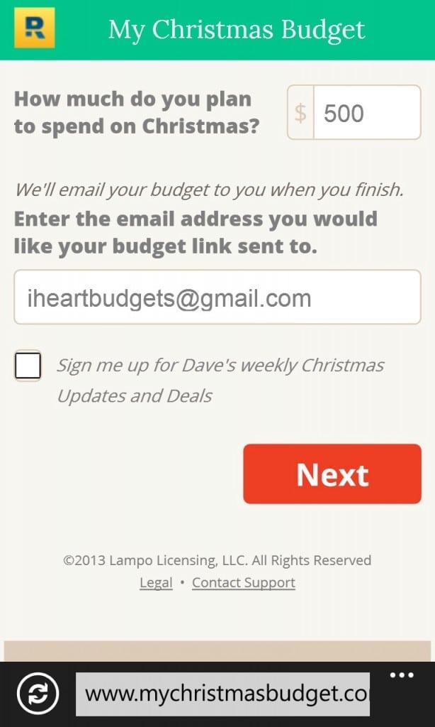 Dave Ramsey Christmas Budget 3