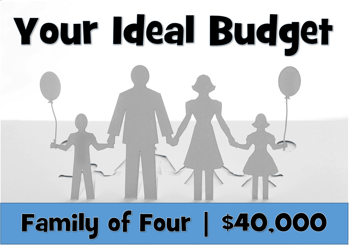 Your Ideal Budget: Family Of Four |$40,000 Income