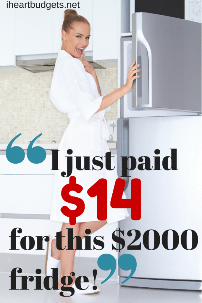 I just paid $14 for this $2000 fridge!