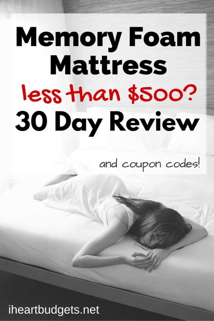 Memory Foam Mattress for less than $500-