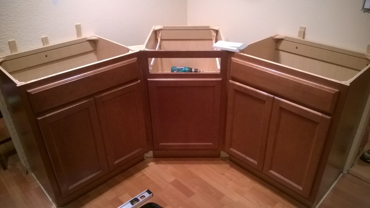 kitchen cabinets 45 degree angle kitchen remodel on a budget part 2 19915