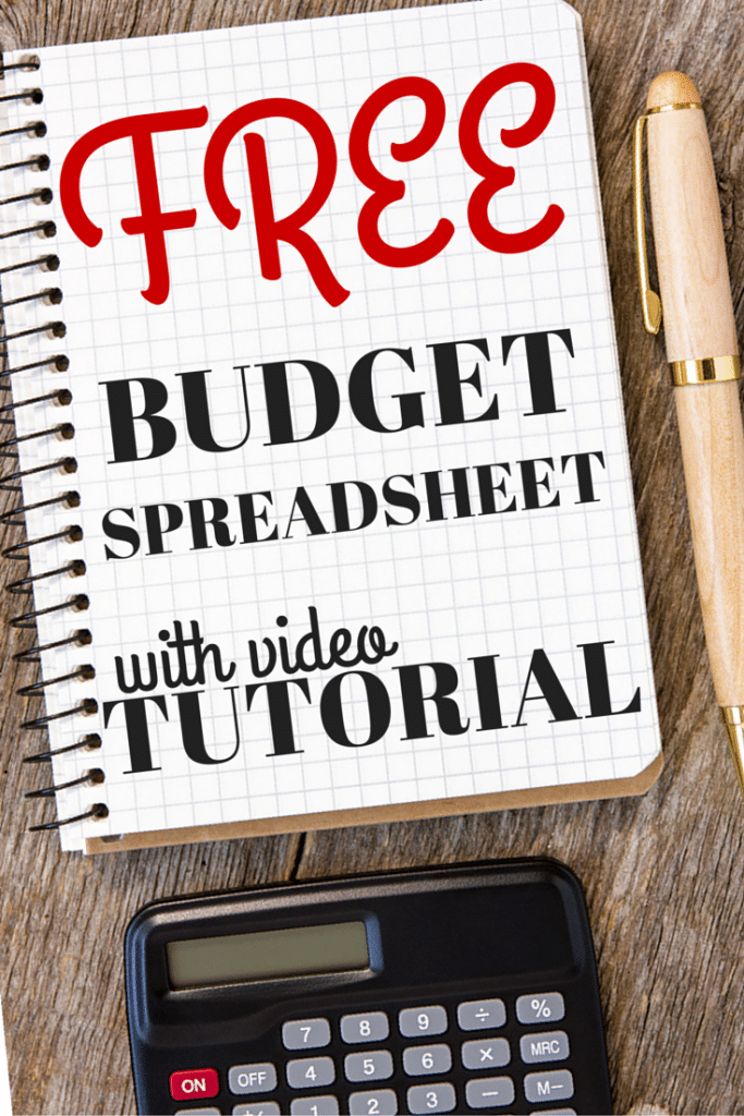 Budget Spreadsheet Tutorial