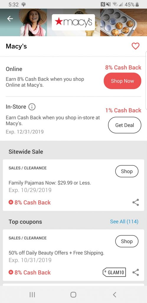 Rakuten App Activate Cash Back