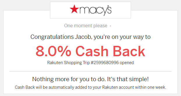 Rakuten - Website Redirect