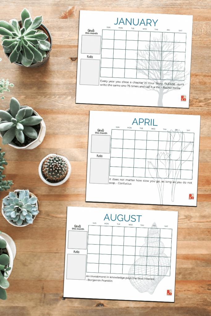 Budget Binder Calendar