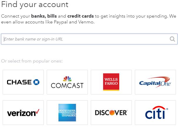 Mint.com Add Accounts
