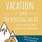 Rent An RV Tips