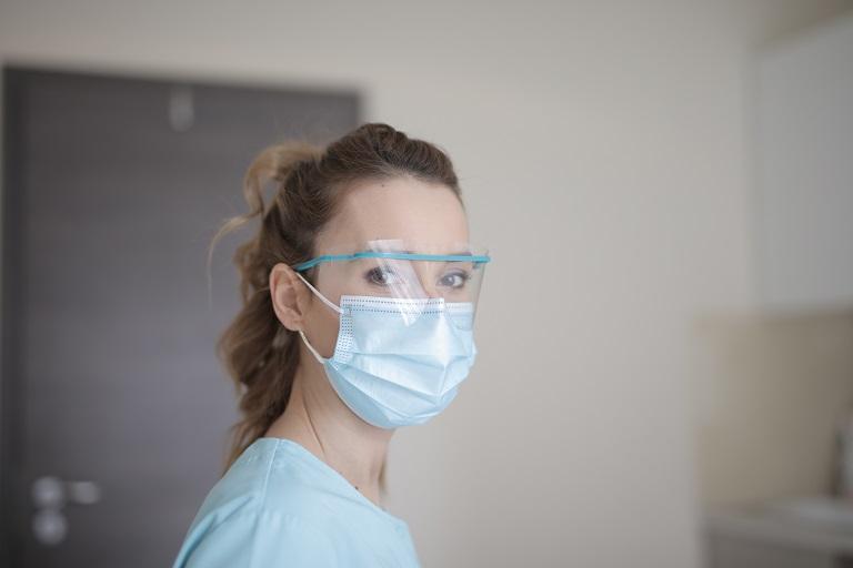 Hospital Worker In Mask