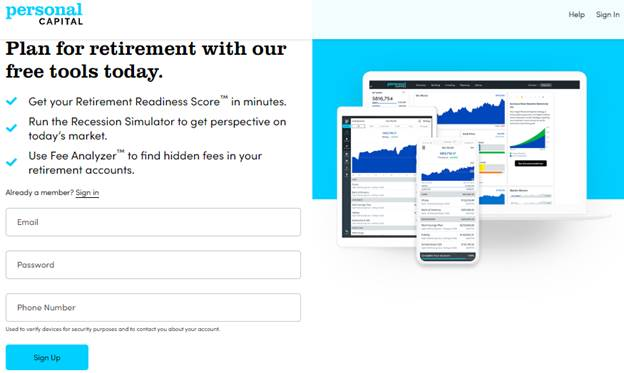 personal capital signup